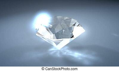 Diamond - Gemstone diamond, with alpha matte.