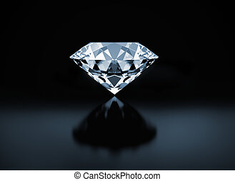 Diamond - Single diamond on black background