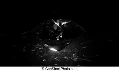 diamond - spinning shining ang glittering gem - loopable
