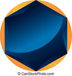 Diamond symbol Template Blank