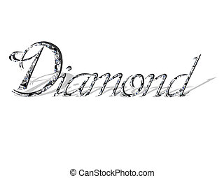diamond  text  - diamond  text