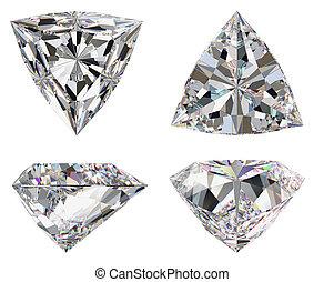 Diamond three star isolated