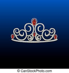 Diamond tiara vector illustration 1