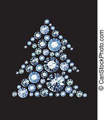 Diamond Tree - Christmas Tree made of gems