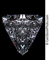 Diamond Trillion - Diamonds series; 3d isolated objects