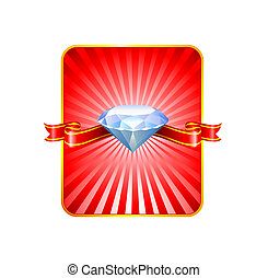 Diamond Valentine\'s Day design background