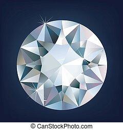 diamond., vecteur, brillant, clair, illustration