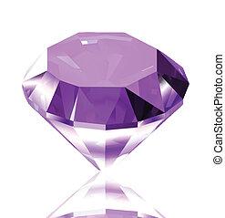 diamond., vecteur, illustration, violet