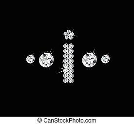 Diamond vector alphabetic letter 'I'