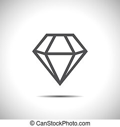 diamond vector icon