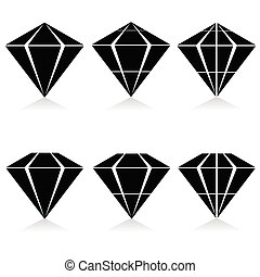 diamond vector illustration in black