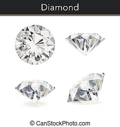 Diamond - Vector photorealistic illustration of a diamond....