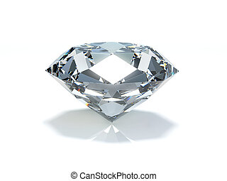 Diamond - Very high resolution 3d rendering of a big diamond...