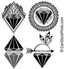 Diamond Vintage Labels
