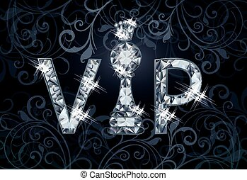 Diamond VIP chess banner , vector illustration