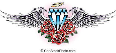 diamond wing emblem