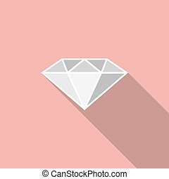Diamond with long shadow, icon