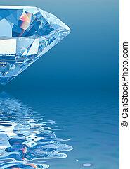 Diamond with reflection