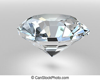 Diamond with soft shadows - Diamond rendered with soft ...