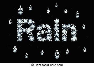 Diamond Word Rain