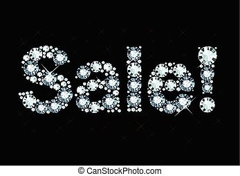 Diamond Word Sale - Word Sale Made Of Shiny Diamonds