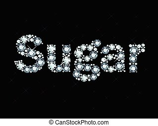 Diamond word sugar - Word sugar made of diamonds