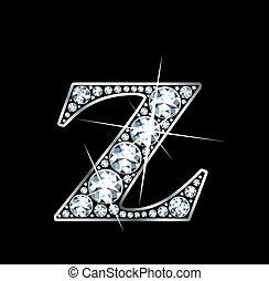 "Diamond Z - Raster - A stunningly beautiful ""Z"" set in..."