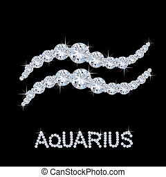 Diamond Zodiac Aquarius