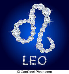 Diamond Zodiac Leo
