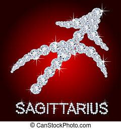 Diamond Zodiac Sagittarius