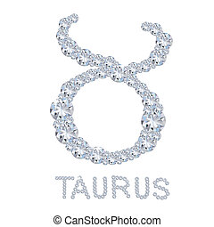 Diamond Zodiac Taurus