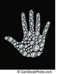 diamonds., γινώμενος , χέρι