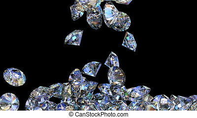 Diamonds 3D animation