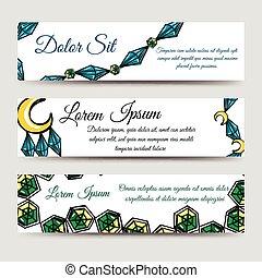 Diamonds and moon banners set