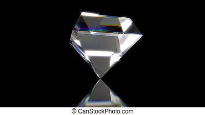 Diamonds, beautiful background. seamless looped 3d