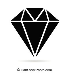 diamonds brilliant black vector illustration