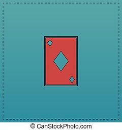 Diamonds card computer symbol