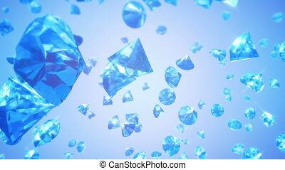 Diamonds Falling Background (Loop) - Calm background with...