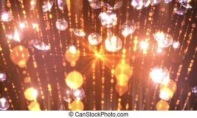 Diamonds Falling Loop Background