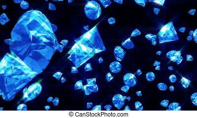 Diamonds Falling on Black (Loop)