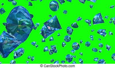 Diamonds Falling on Green (Loop)