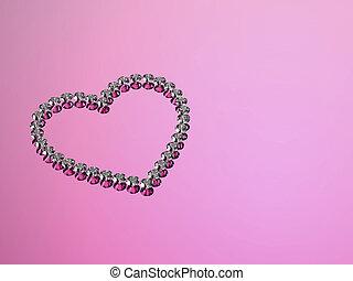 Diamonds hearts stones