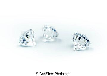 Diamonds on a white background.
