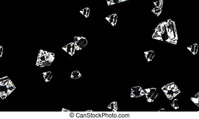 Diamonds on black able to loop