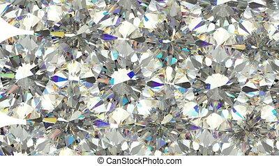 Diamonds or gems scatter slowmo