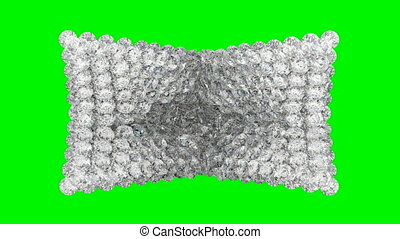 Diamonds orb blast or scatter over green screen