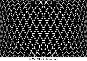 Diamonds pattern on 3D black background. Convex geometric ...