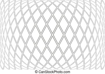 Diamonds pattern on 3D white background. Convex geometric ...