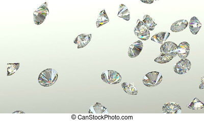 Diamonds scatter with slow motion