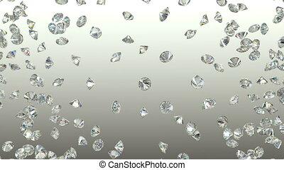 Diamonds scattering or flying away
